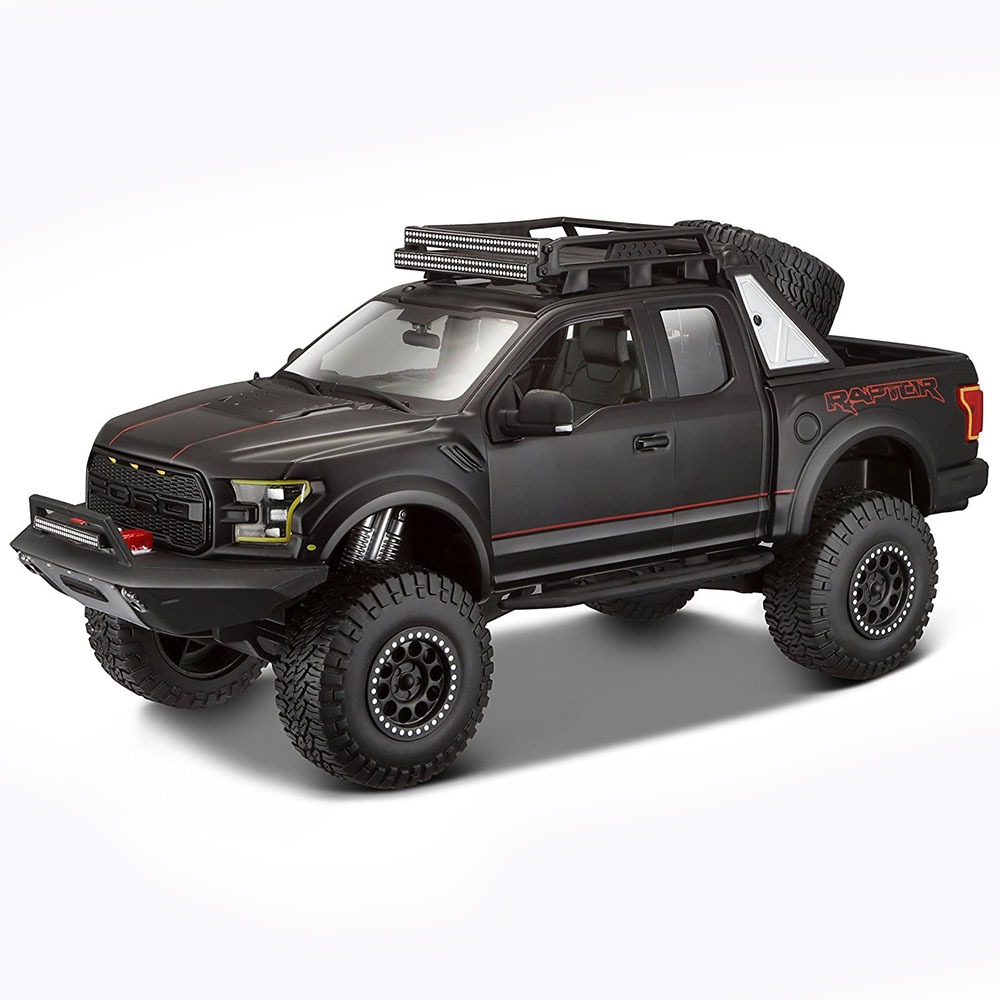 maisto 2017 ford f 150 raptor 1 24 model araba siyah loco poco. Black Bedroom Furniture Sets. Home Design Ideas