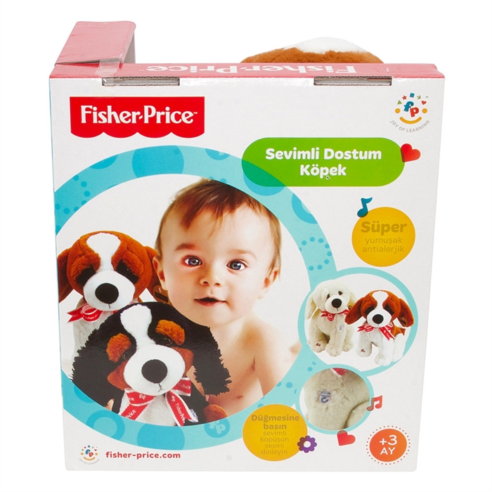 Fisher Price Oturan Peluş Köpek Model 3