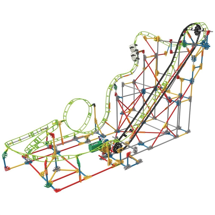 K'Nex Double Doom Roller Coaster Set (Motorlu) Thrill Rides Knex