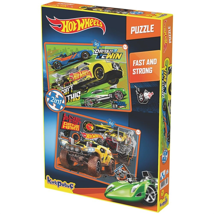 Kırkpapuç Hot Wheels Fast & Strong Çocuk Puzzle
