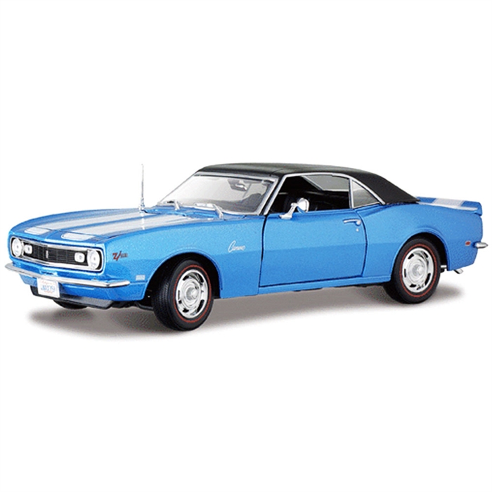 Maisto Chevrolet Camaro Coupe 1968 1:18 Model Araba S/E Mavi