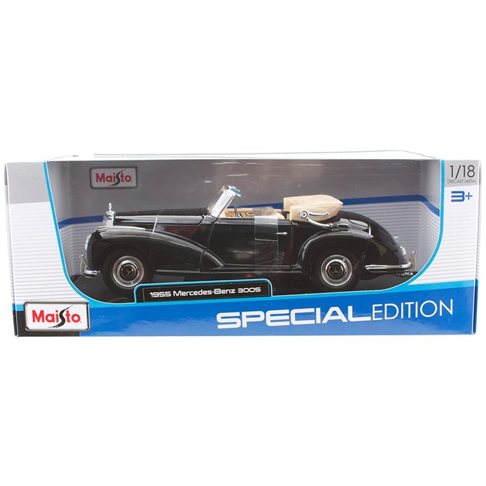 Maisto 1:18 1955 Mercedes-Benz 300 S Model Araba