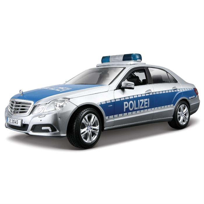 Maisto Mercedes E-Class Polizei 1:18 Model Araba Gri