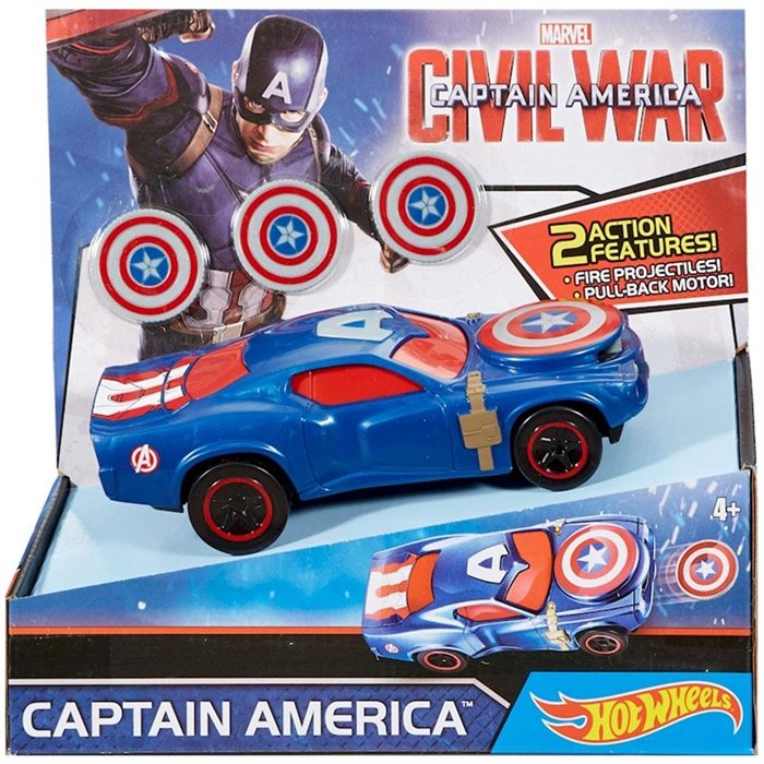 Hot Wheels Marvel Civil War Captain America Araç Seti