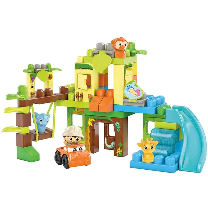 Mega Bloks Fisher-Price Swing and Slide Jungle 1-5 Yaş