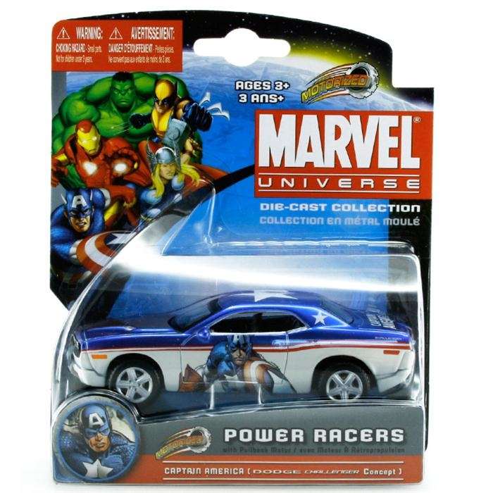 Maisto Marvel Power Racers Dodge Challenger Araba
