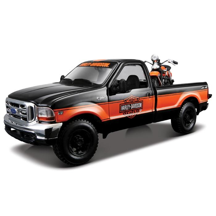 Maisto Ford F-350 Pickup 1999 1:27 Model Araba Siyah