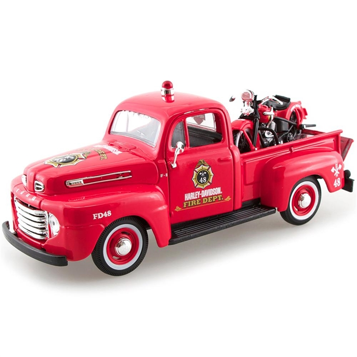 Maisto 1:27 1948 Ford F-1 Pick-Up  1936 EL Knucklehead Model Arab