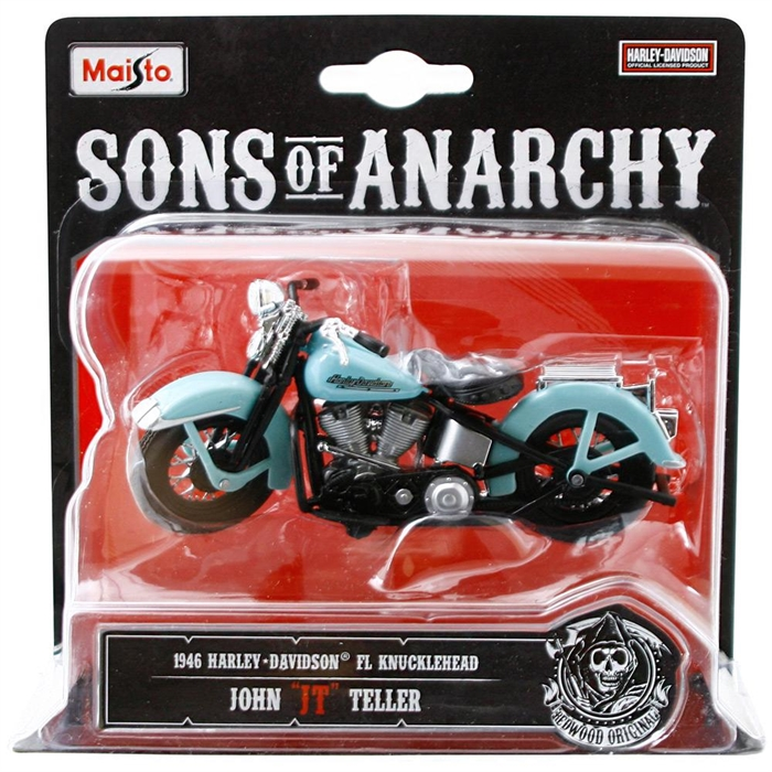 Maisto Sons Of Anarchy 1946 Harley Davidson JT 1:18 Model Motorsi