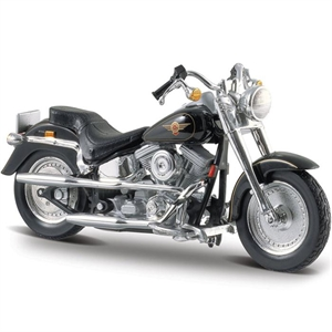 Maisto Harley Davidson Flstf Fat Boy 1997 1:18 Maket Kit Motorsik