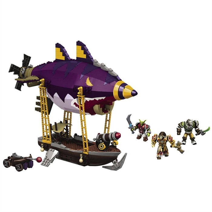 Mega Bloks World Of Warcraft Goblın Zeppelın Ambush