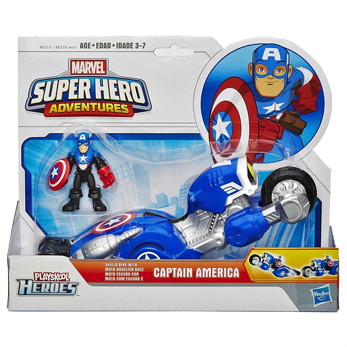 Marvel Süper Hero Adventures Captain America Shield Bike Araç Set
