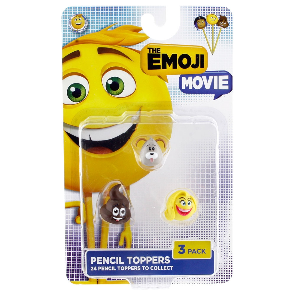 Emoji Movie 3'lü Kalem Süsü Model 1