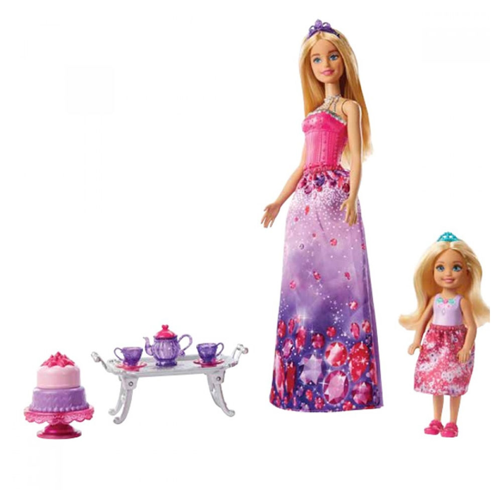 Barbie Dreamtopia Barbie ve Chelsea'nin Çay Partisi Oyun Seti FPL