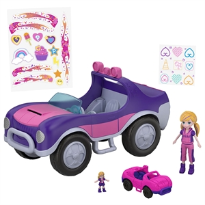 Polly Pocket ve Arabası Oyun Seti