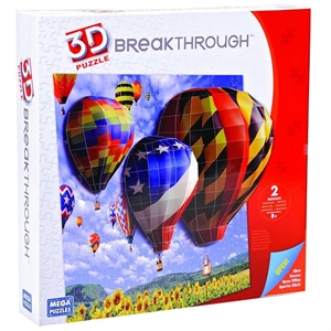 Mega Puzzles 200 Parça 3D Puzzle Breakthrough Balonlar