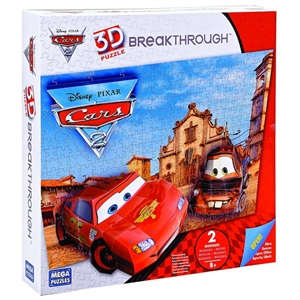 Mega Puzzles 200 Parça 3D Puzzle Breakthrough Cars 2